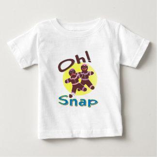 Broche de los hombres de pan de jengibre oh camiseta de bebé