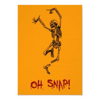 Broche divertida del esqueleto del baile oh invitación 12,7 x 17,8 cm