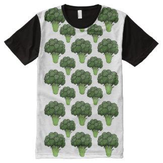 Bróculi por todas partes camiseta con estampado integral