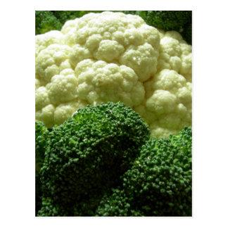 Bróculi y coliflor postal