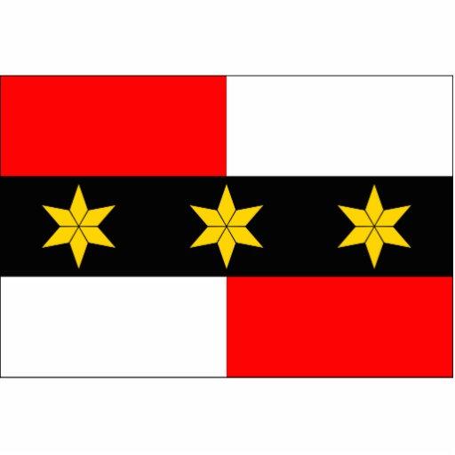 Brodek U Prostejova CZ, bandera de la República Ch Escultura Fotografica