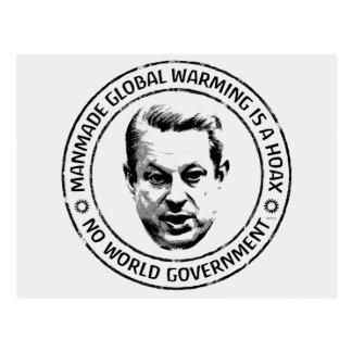 Broma artificial del calentamiento del planeta postal