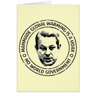 Broma artificial del calentamiento del planeta tarjeta de felicitación