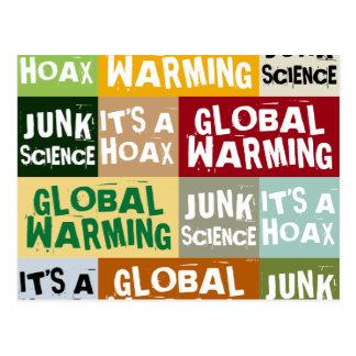 Broma del calentamiento del planeta tarjetas postales