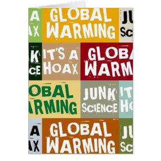 Broma del calentamiento del planeta tarjeta de felicitación