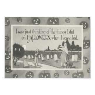 Broma del fantasma del cementerio del cementerio invitación 12,7 x 17,8 cm