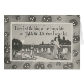 Broma del fantasma del cementerio del cementerio tarjeta de felicitación