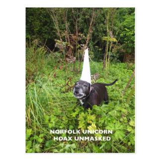 Broma del unicornio de Norfolk desenmascarada Postal
