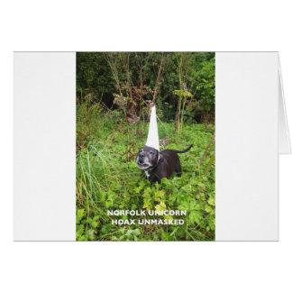 Broma del unicornio de Norfolk desenmascarada Tarjeta De Felicitación
