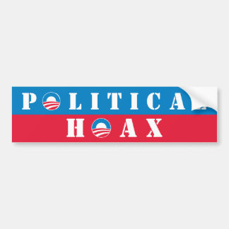 Broma política de Obama Etiqueta De Parachoque