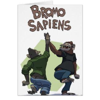 Bromo Sapiens (estudiantes) Tarjeta De Felicitación