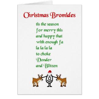 Bromuros del navidad - un poema divertido del tarjeta de felicitación