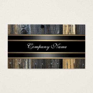 Bronce de madera beige elegante del negro de la tarjeta de visita