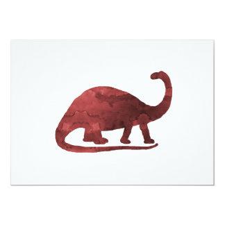Brontosaurus Invitación 12,7 X 17,8 Cm