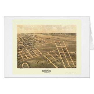 Brookfield, mapa panorámico del MES - 1869 Tarjeta De Felicitación