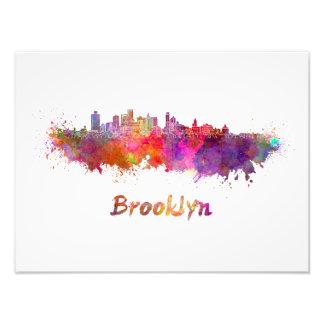 Brooklyn skyline in watercolor foto