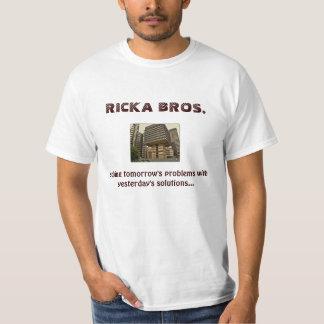 bros del ricka, lema de la compañía camisetas