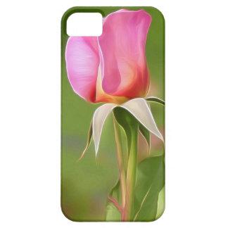 Brote color de rosa rosado solitario funda para iPhone SE/5/5s