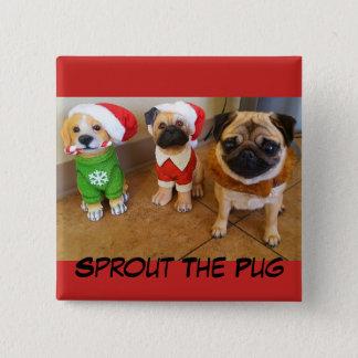 Brote del navidad en un botón