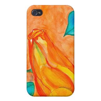 Brote subió Rojo-Naranja iPhone 4 Coberturas