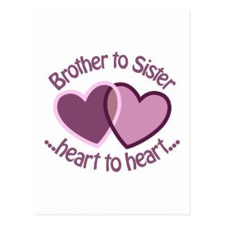 Brother a la hermana postal