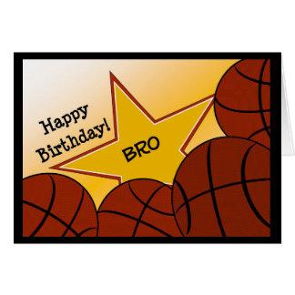 ¡Brother - baloncesto del feliz cumpleaños que ama Tarjeta De Felicitación