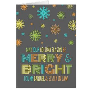 Brother colorido y tarjeta de Navidad de la cuñada