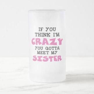 Brother loco taza de cristal
