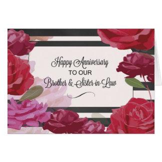 Brother y aniversario de boda de la cuñada subió tarjeta de felicitación