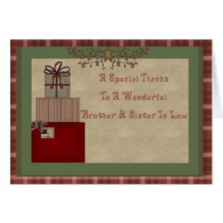 Brother y el regalo del navidad de la cuñada le ag tarjeta de felicitación