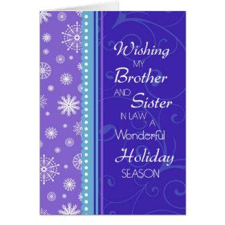 Brother y tarjeta de Navidad de la cuñada