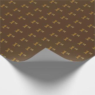 Brown, 1r (primer) papel de embalaje del