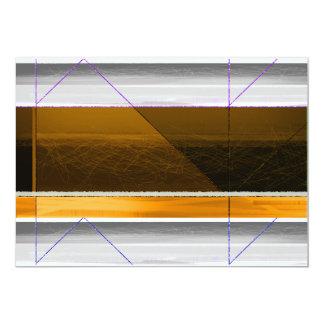 Brown abstracto y amarillo invitación 12,7 x 17,8 cm