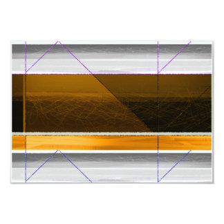 Brown abstracto y amarillo invitación 8,9 x 12,7 cm