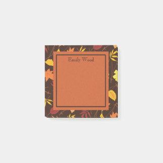 Brown amarillo anaranjado personalizó el poste de notas post-it®