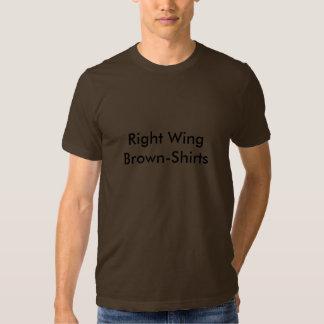 Brown-Camisetas de la derecha Camiseta