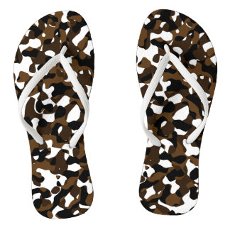 Brown Camo Chanclas