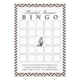 Brown Chevron raya tarjetas nupciales del bingo de Invitaciones Personalizada