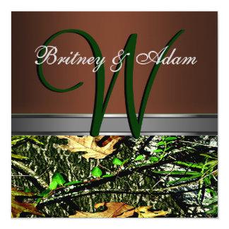 Brown e invitaciones verdes cubiertas de musgo del comunicados personalizados