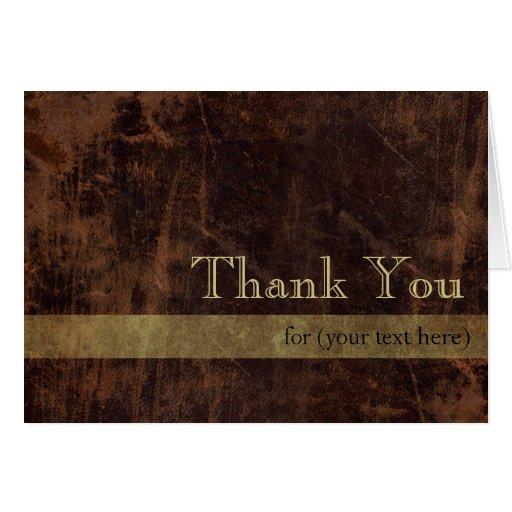 Brown/el oro ejecutivos personalizados le agradece tarjetón