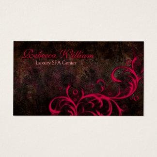 Brown elegante y tarjeta rosada del lujo de las