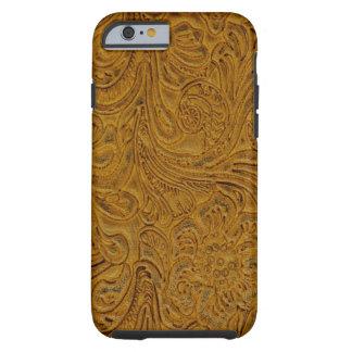 Brown equipó el país de cuero del vaquero de la funda de iPhone 6 tough