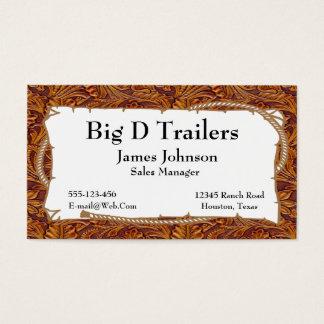Brown equipó la impresión de cuero con la muestra tarjeta de negocios