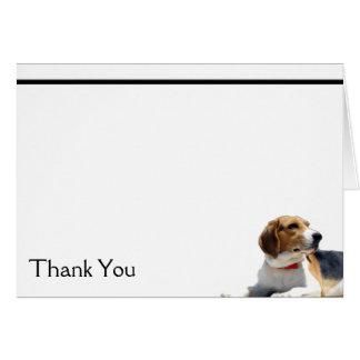 Brown negro y tarjeta de nota blanca del perro del