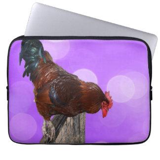 Brown_Nosy_Rooster, _13_Inch_Laptop_Sleeve Funda Para Ordenador