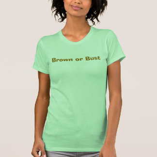 Brown o busto camiseta