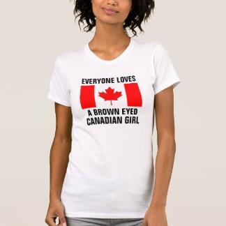 Brown observó al chica canadiense camisetas