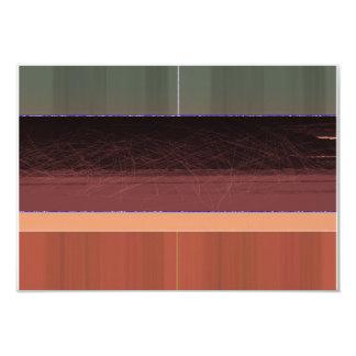 Brown oscuro abstracto invitación 8,9 x 12,7 cm