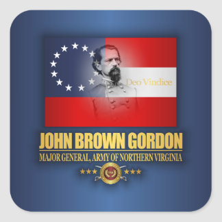 Brown (patriota meridional) pegatina cuadrada