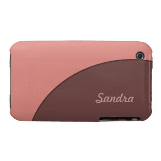 Brown rosado retro iPhone 3 cobreturas